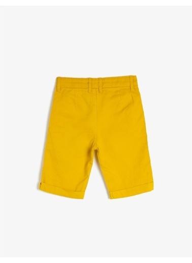 Koton Pamuklu Cepli Sort Sarı